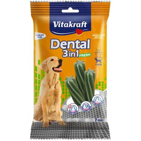 VITAKRAFT DENTAL 3w1 FRESH M 180g przysmak d/psa